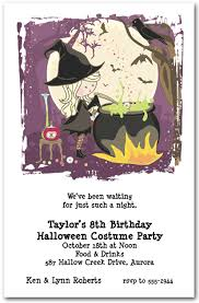costume party invites cute witchs cauldron halloween party invitations