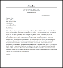 Professional Marketing Coordinator Cover Letter Sample Writing