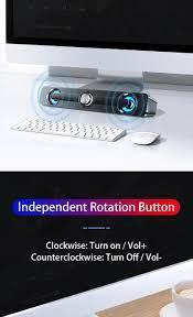 Patlama tarzı USB kablolu bluetooth hoparlör büyük hacimli kablosuz  subwoofer taşınabilir hoparlörler için PC bilgisayar ses