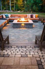 gorgeous brandon wall square gas fire pit with brandon wall seating and eva patio