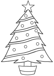 Image of: Christmas Tree Coloring Pages