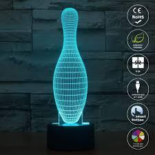 Light Bowling Tons 3d Night Light Bowling Elstey Led Illusion Lamp 7
