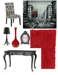 red black home office. In Designing Our Home Office I\u0027m Toying With Using Paris As My Inspiration (or It Might Just Be That Best Friend Will Red Black