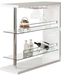 wine rack bar table. Wine Rack Bar Table Unit With 2 Glass Shelves Holder, White S