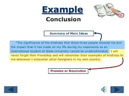 essay parts example conclusion