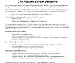 Objectives For Job Resume Career Change Format Samples Application