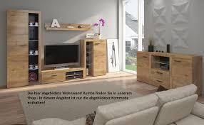 TOP Kommode Sideboard Rumba Wohnwand Wohnzimmer Anbauwand Eiche Lefkas Matt  U2013 Bild 2