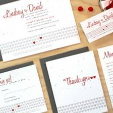 wedding invitations with hearts plantable wedding invitations seed paper favors eco friendly