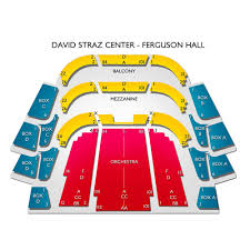 David A Straz Center Ferguson Hall 2019 Seating Chart
