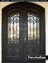 iron doors steel entry monaco front door in home attractive metal and glass addition to 8