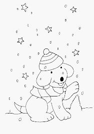Kleurplaten Zonder Reclame Afbeelding Kleurplaat Wolk Met Sneeuw