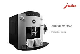 jura impressa f70 instructions for use
