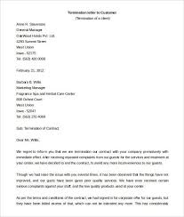 Letter Of Dismissal Template Termination Of Contract Letter Termination Contract Letter Template 81