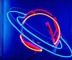 Planet Neon Light Image About Beautiful In Neon By Boston On We Heart It