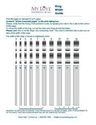 Wedding Band Width Chart Guide To Wedding Rings My Love