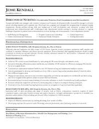 Awesome Collection of Director Of Nursing Resume Sample In Worksheet