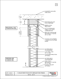 metal stud framing details. SS 107-1 Hour Partition With Deflection Track. Head Of Wall Metal Stud Framing Details S