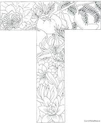 Wondrous Inspration T Coloring Page Pages Letter A Col To Print For