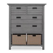 rustic grey furniture.  Rustic Evolur Waverly 4Drawer Rustic Grey Chest With Baskets Inside Furniture A