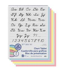 Pacon 25 Sheet 1 Ruled Colored Paper Chart Tablet With