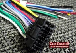 16 pin aiwa aftermarket car stereo radio wire harness plug