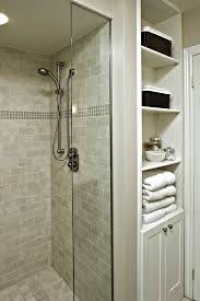 bathroom shower tile ideas traditional. Small Shower Tile Ideas Bathroom Traditional With Storage Glass Accent. Image By: Avalon Interiors B