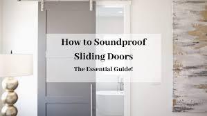 how to soundproof sliding doors easy