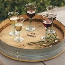 reversible reclaimed wine barrel. Banded Wine Barrel Lazy Susan Reversible Reclaimed
