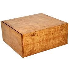 Burl Coffee Tables Milo Baughman Burl Wood Coffee Table With Storage Coffee Table