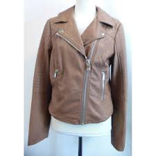 artificial leather jacket miss selfridge size 10 brown jacket for in manchester london preloved