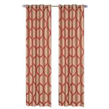 lavish home rust metallic grommet curtain panel 84 in length set of 2