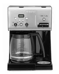 The only control this machine comes with is an on/off switch. Cuisinart Coffee Plus 12 Cup Programmable Coffee Maker Williams Sonoma