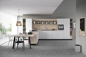 geometric wood and white kitchen jpg