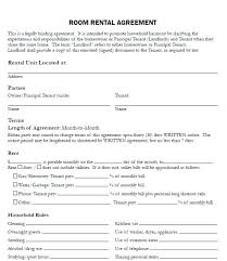 Room Rental Agreement Form New Lease Template Student Ontario ...