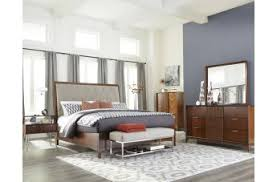 urban bedroom furniture. klaussner simply urban 4piece park lane upholstered bedroom set in brown cherry furniture r