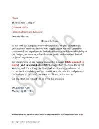 Sample Business Loan Request Letter To Bank Sample Thank You