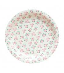 Pink Flower Paper Plates Flowers Paper Plates