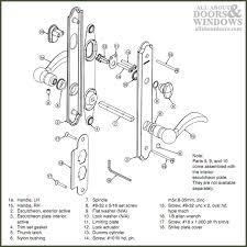 anderson sliding patio door lock parts