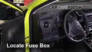 interior fuse box location 2017 2018 toyota corolla im 2017 locate interior fuse box and remove cover