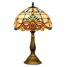 led lamps european creative tiffany colored glass baroque bedroom bedside table lamp bar club glass lighting