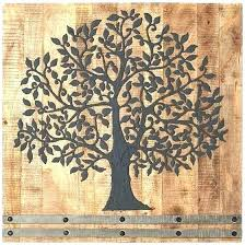 wood medallion wall art iron and decor innovative decoration arbor tree of life white medallions