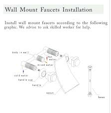 wall mount faucet installation new wall mounted waterfall bathroom bathtub sink faucet spout wall mount faucet wall mount faucet installation