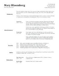 Resume Layout Examples Adorable Resumes Layout Examples Job Resume Sample Template 48 Creerpro