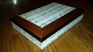Decorating Cigar Boxes Altered decorated cigar box for male music He didn't want any 99