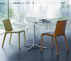 contemporary chair with armrests fabric leather