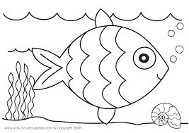 rainbow fish coloring template free clip art book pages page