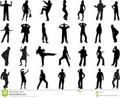 Vectors Silhouettes Women Models Stock Vector Illustration Of Hair Position 2280710