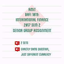 rmit international finance assignment textbooks on carousell rmit international finance assignment
