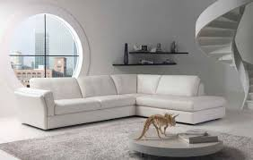 Round Living Room Furniture Living Room White Leather Sectional Small Living Room Sofa With
