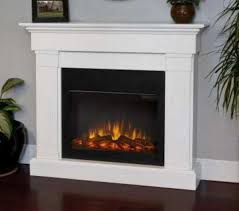 slim white electric fireplace crawford by real flame